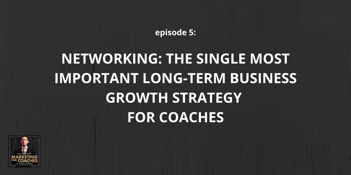 Networking for coaches