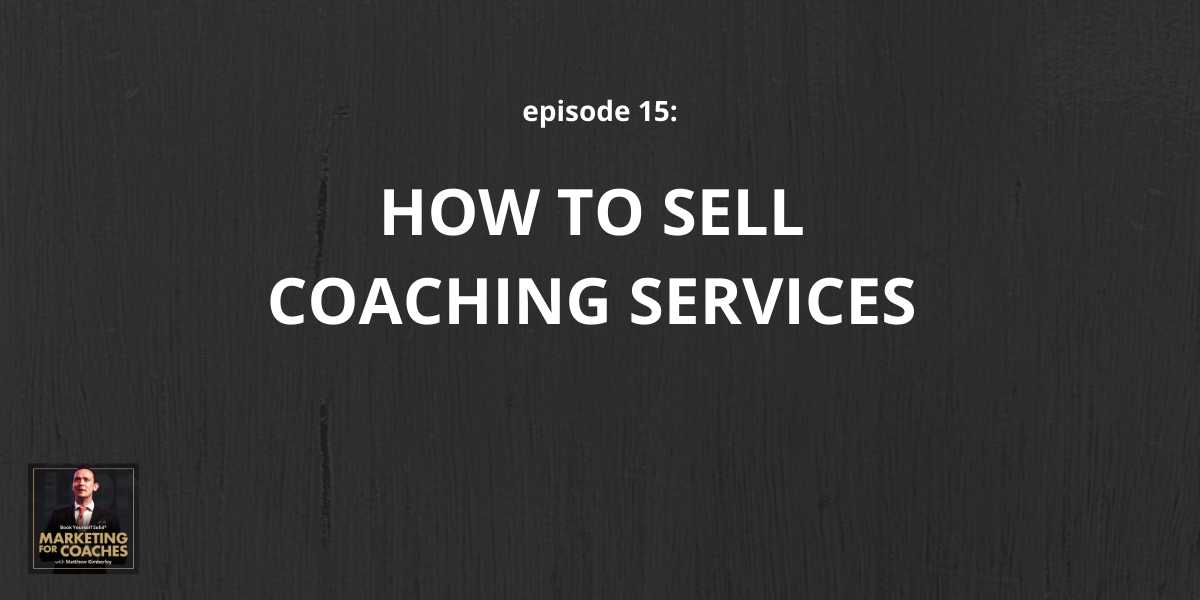 How to sell coaching services